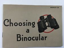 Original ww2 period Barr and Stroud binocular catalogue