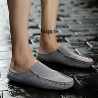 Summer Men Driving Moccasin Loafer Soft Casual Suede Leather Slip On Flat Shoes