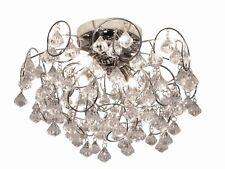 Kliving Sassari Chrome Clear Acrylic 4 Light Ceiling Fitting