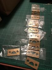 Deltana Surface Bolt Strike Plate Brass Polished Flat