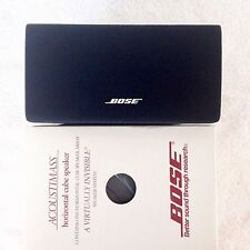 Bose **{NEW}** Center/Horizontal Double Cube Speaker Black Acoustimass Lifestyle