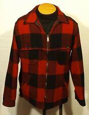 vintage men's plaid Woolrich jacket wool hunting mackinaw size 40 Slightly Short