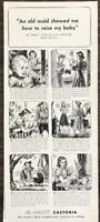 1940 Fletcher's Castoria Children's Laxative Print Ad An Old Maid Showed Me
