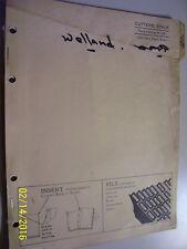 VINTAGE JOHN DEERE  PARTS  MANUAL -STALK CUTTERS- 1957