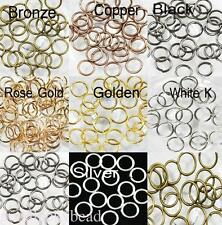 Lots 4/5/6/8/10mm Metal Single Loop Split Jump Ring Open Jump Rings Findings