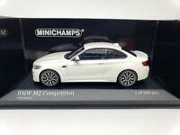 1:43 Minichamps BMW M2 Competition Coupe F87 2019 M 2 Series F22 Alpine White LE