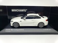 1:43 Minichamps BMW M2 Competition Coupe F87 2019 M 2 Series F22 Alpine White LE