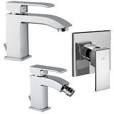 Set completo miscelatori bagno moderno Paffoni Level per bidet + lavabo + doccia