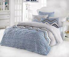 Bettwäsche modernes Design STRIPE WAVE BLUE 135x200 cm 80x80 cm Streifen Wellen