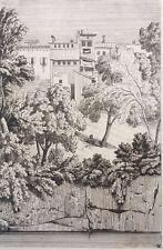 Caruelle d'Aligny, Gravure XIXe, Italie, Engraving, Radierung, Incisione, 19th.