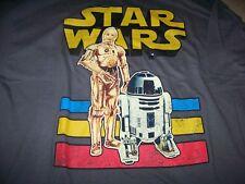 NWT Star Wars s/s Retro Graphic T Shirt Men's XXL ~ C3-PO R2-D2 ~ DROIDS ~ 2XL