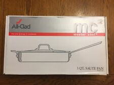 ALL-CLAD Master Chef 2 3 Quart / Qt. Saute Pan with Lid MC2 Stainless 7403 NEW