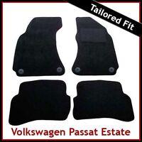 Volkswagen VW Passat Estate B5 Round Clips 1996-2005 Tailored Carpet Mats BLACK