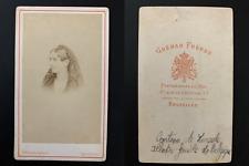 Ghémar, Bruxelles, La comtesse de Mérode, circa 1860 vintage cdv albumen print -