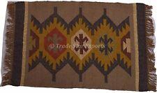 Indian Jute Rug 2X3 Feet Kilim Carpet Rug Hand Woven Area Rug Runner  Floor Mat