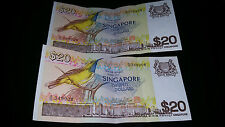 2 Singapore Bird $20 running number