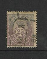 Norway SC# 45, Used, top horizontal crease, minor toning - S9374