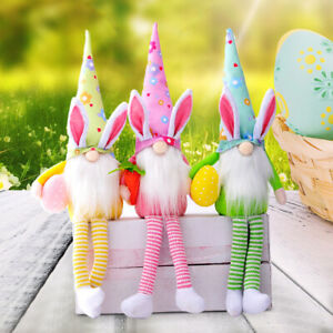 Easter Gnome Bunny Rabbit Nordic Gonk Tomte Plush Toys Doll Ornaments Kids Gifts