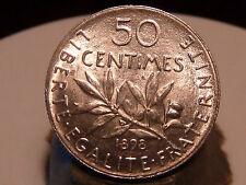 8CL(135) - 50 CENTIMES - SEMEUSE - ARGENT - 1898 - TRES RARE QUALITE SPL !