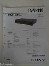 Schema SONY - Service Manual Stereo AV Amplifier TA-VE110 TAVE110