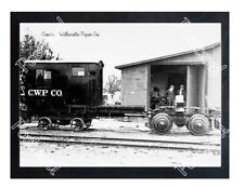 Historic Crown - Willamette Paper Co. Train Postcard