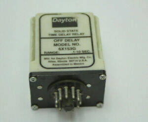 Dayton 6X153G Time Delay Relay Timer 0.1 to 10 Seconds 120VAC 11-Pin Used