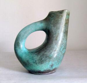 Amorphe Henkelvase Keramik Reduktionsglasur_________________nice vintage pottery