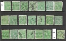 Stamps Australia Bulk 1/2d Green KGV Heads  x 21 Good Used/Fine Used SC/A