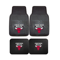 Chicago Bulls NBA 2pc and 4pc Mat Sets - Heavy Duty-Cars, Trucks, SUVs