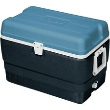 New Igloo Maxcold 50 QT Jet Carbon / Ice Blue / White - 5 days Cooler cool box