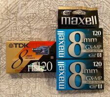 TDK Maxell Blank Camcorder Videocassette 8mm 120 Lot Of 3 NEW