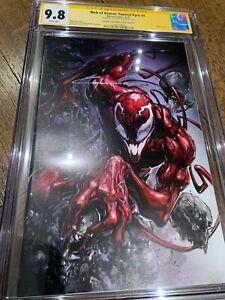 Web of Venom: Funeral Pyre #1 CGC SS 9.8 Clayton Crain Virgin Variant