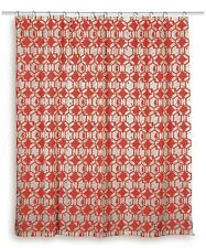 Rizzy Home Geometric Shower Curtain - Red/White - 72 Inch x 72 Inch