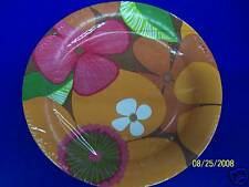 """Totally Tropical Warm Luau Summer Floral Pool Party 10.5"""" Paper Banquet Plates"""