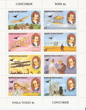 Equatorial Guinea 1981 Aviation History Planes & Wright Brothers S/S MNH