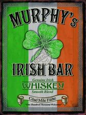 Murphy's Irish Bar, Pub Restaurant Whiskey Clover Ireland, Medium Metal Tin Sign