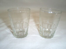 """Set of 2 2 3/8"""" Tall Partially Ribbed&Partially Etched 2 Ounce Shot Glasses"""