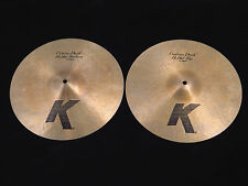 "Zildjian 14"" K Custom Dark Hi Hats Cymbal Pair K0943 Trade Show Demo"