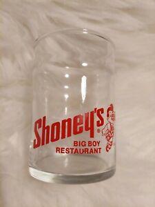 SHONEY'S BIG BOY RESTAURANT 8OZ JUICE GLASS.