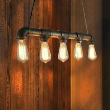 Rustic Water Pipe Chandelier Ceiling Light Pendant Lamp Steampunk lights Fixture