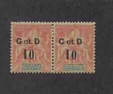 "GUADELOUPE - 46 TYPE h MNH GUTTER PAIR - 1903 -""G et D  10"" O/P"