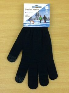 Merino Wool Gloves With Touchscreen Fingertips