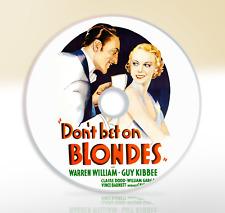 Don't Bet On Blondes (1935) DVD Classic Comedy Film / Movie Warren William
