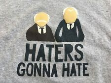 STATLER & WALDORF MUPPET SHOW T-Shirt LARGE Haters Gonna Hate Grumpy MUPPETS