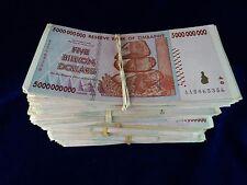 Zimbabwe 5 Billion Dollar Note CIRCULATED 5 Bundles=500 Notes AA/AB 2008 Series