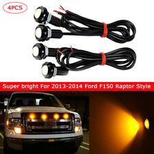 New Amber LED Light For 2013-2014 Ford F150 Raptor Style Grille Light Kit 4pcs