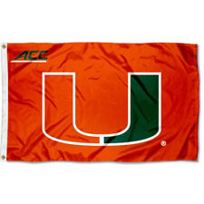 Miami Canes ACC Large Outdoor Flag