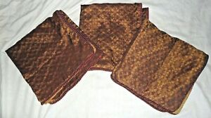 CROSCILL GALLERIA RED BROWN RED & GOLD (3PC) EURO PILLOW SHAMS 26 X 26