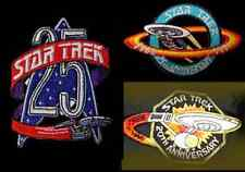 Star Trek Anniversary Logo  Patch- Lincoln Ent- Set of 3  FREE S&H (STPAL-099)