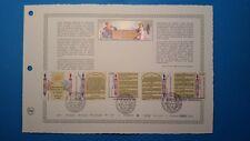 FRANCE DOCUMENT ARTISTIQUE YVERT 2602/025 DECLARATION DROITS HOMME 1989  L568